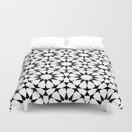Arabesque in black and white Duvet Cover