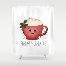 Fa-la-la-la-latte Shower Curtain