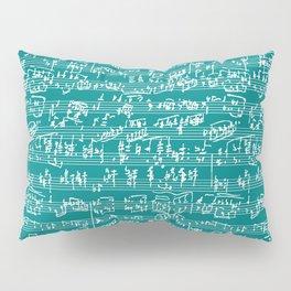 Hand Written Sheet Music // Teal Pillow Sham