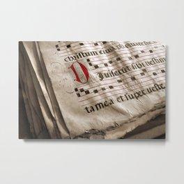 Medieval Choir Book Metal Print