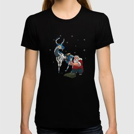 Santa and Robot Reindeer T-shirt