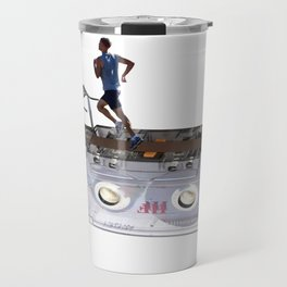 Cassette Tape Running Treadmill Travel Mug