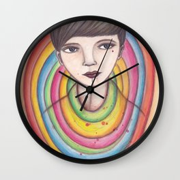 colorme / finkpink Wall Clock