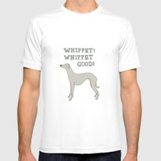 Whippet! Whippet Good!  SMALL White Mens Fitted Tee