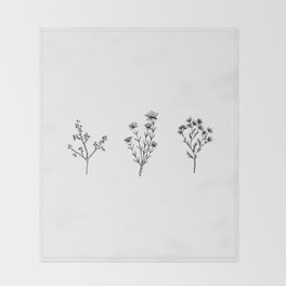 Wildflower Trio Throw Blanket