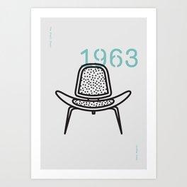 The Shell Chair Art Print