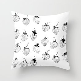 strawberries forever Throw Pillow