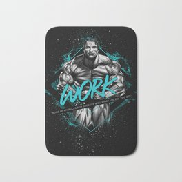 Arnold Schwarzenegger Motivational Art Bath Mat