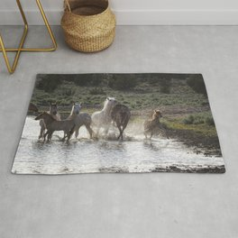 Splashing About At The Waterhole Rug