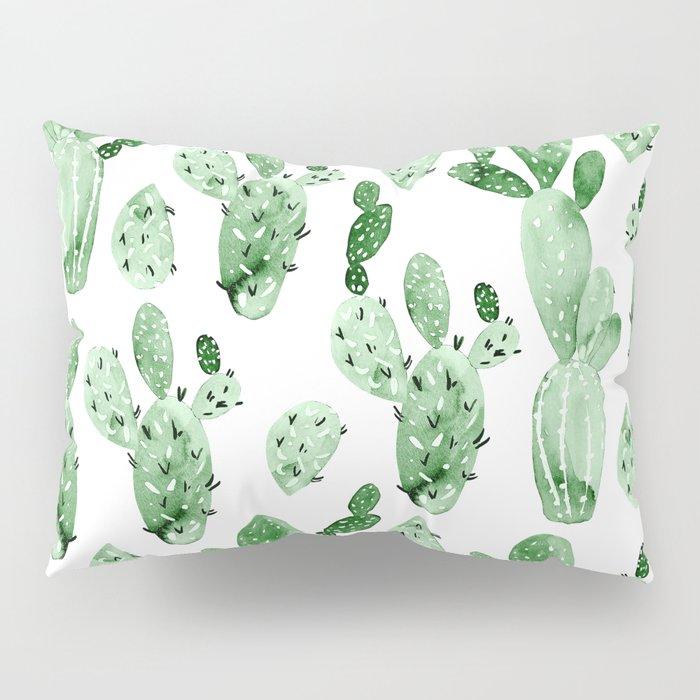 Green Cactus Field - Large Pillow Sham