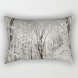 Snow Trail Rectangular Pillow