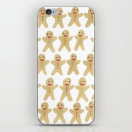 Gingerbread people iPhone Skin