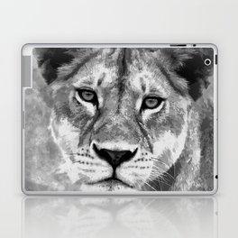 Grayscale Female Lion Digital Art Laptop & iPad Skin