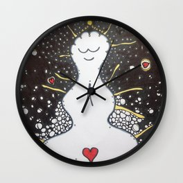 buddha bubbles Wall Clock