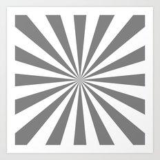 Starburst (Gray/White) Art Print
