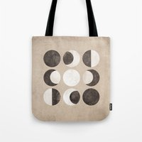 moon phases Tote Bags featuring Moon Phases by cegphotographics