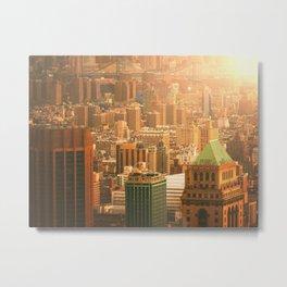 New York City Skyline Rooftops Metal Print