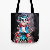 conan Tote Bags featuring Little detective by Puckboum