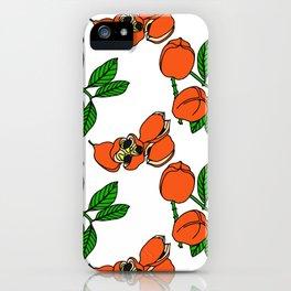 Jamaican Botanicals - Ackee (neon) iPhone Case