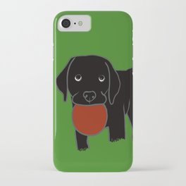 Black Lab Puppy iPhone Case