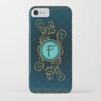 monogram iPhone & iPod Cases featuring Monogram F by Britta Glodde