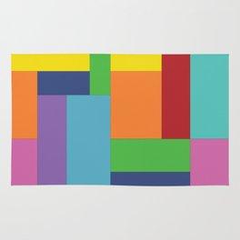 Multicolor square Rug