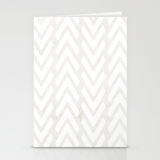 Chevron Tracks Stationery Cards