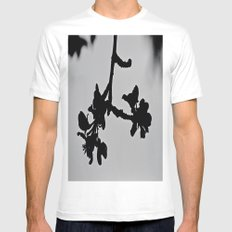 Blooming Silhouette White Mens Fitted Tee MEDIUM