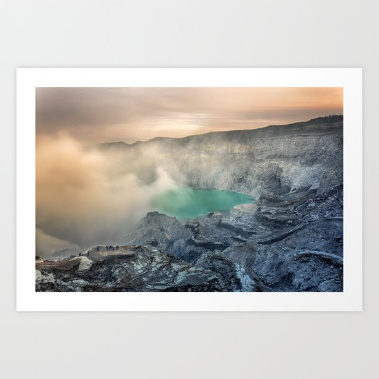 volcano, Indonesia Art Print