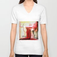 garden V-neck T-shirts featuring Garden by Helen Syron