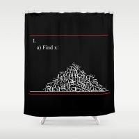 math Shower Curtains featuring Math Problem by Tink.hr
