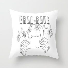 Crab Rave - Meme Throw Pillow