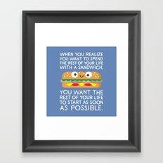 When Harry Met Sandwich Framed Art Print