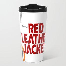 Red Leather Jacket Travel Mug