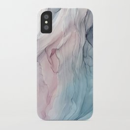 Calming Pastel Flow- Blush, grey and blue iPhone Case