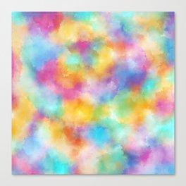 Watercolor Rainbow Abstract Art Canvas Print