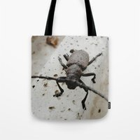 beetle Tote Bags featuring Beetle by Bor Cvetko