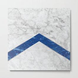 Arrows - White Marble & Blue Granite #184 Metal Print