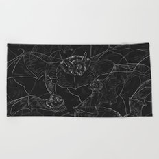 Bat Attack Beach Towel