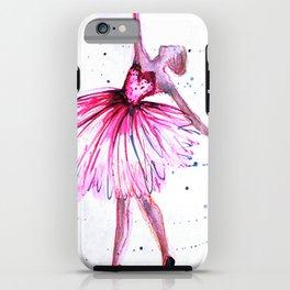pink ballerina iPhone Case