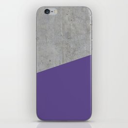 Concrete with Ultra Violet Color iPhone Skin