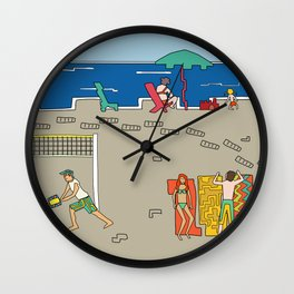 Afternoon at the beach (a) Wall Clock