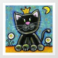 CAT, GOOD NIGHT Art Print