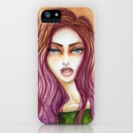 Original Watercolor Illustration by Jenny Manno Art/kara iPhone Case