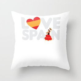Love Spain Spanish Tourist Vacation Gift Throw Pillow