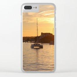 Boats At Sundown Clear iPhone Case