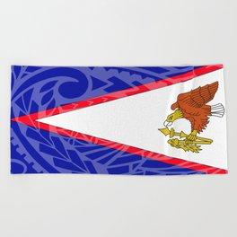 American Samoa Flag Beach Towel