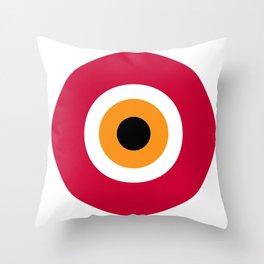 evil eye, red, Throw Pillow