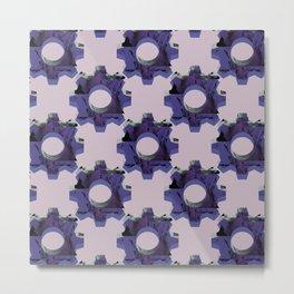 IMPROBABLE GREASE REEL blue pat. Metal Print