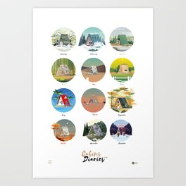 Cabins Diaries Art Print